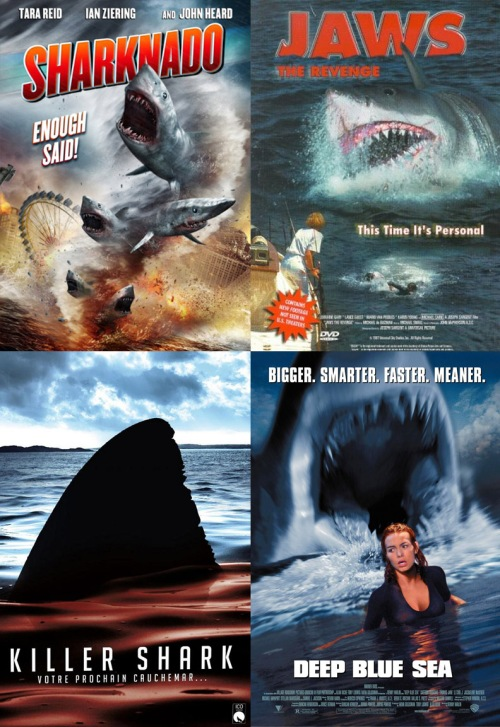shark movies composite of posters